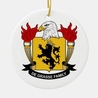 Escudo de la familia del De Grasse Adorno Redondo De Cerámica