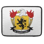 Escudo de la familia del De Grasse Funda Para Macbooks