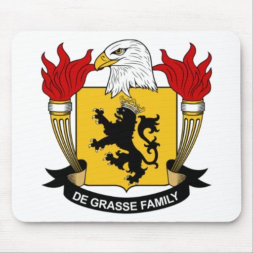 Escudo de la familia del De Grasse Alfombrillas De Ratón