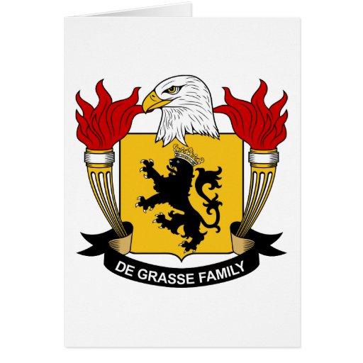 Escudo de la familia del De Grasse Tarjeton
