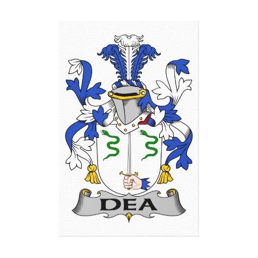Escudo de la familia del Dea Lona Envuelta Para Galerias