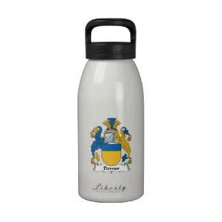 Escudo de la familia del Dewar Botellas De Agua Reutilizables