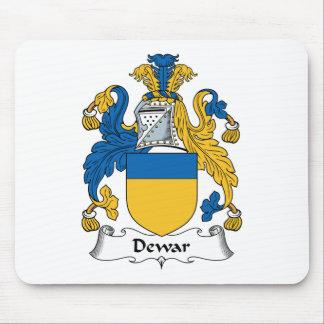 Escudo de la familia del Dewar Tapetes De Raton