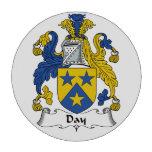 Escudo de la familia del día fichas de póquer