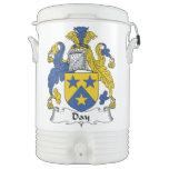 Escudo de la familia del día enfriador de bebida igloo