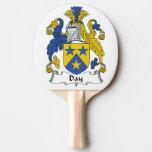 Escudo de la familia del día pala de tenis de mesa