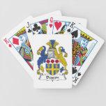 Escudo de la familia del diácono baraja cartas de poker