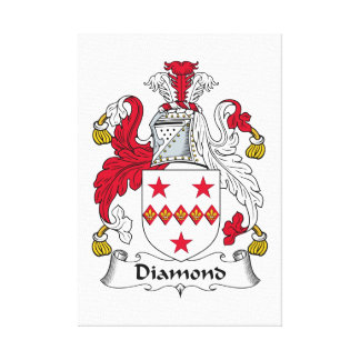 Escudo de la familia del diamante impresion en lona