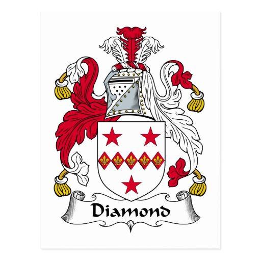 Escudo de la familia del diamante postales