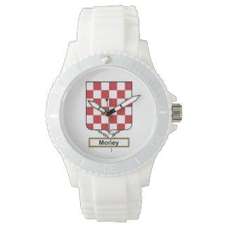 Escudo de la familia del dinero reloj de mano