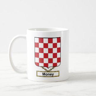 Escudo de la familia del dinero taza