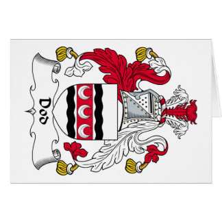 Escudo de la familia del Dod Tarjeta De Felicitación