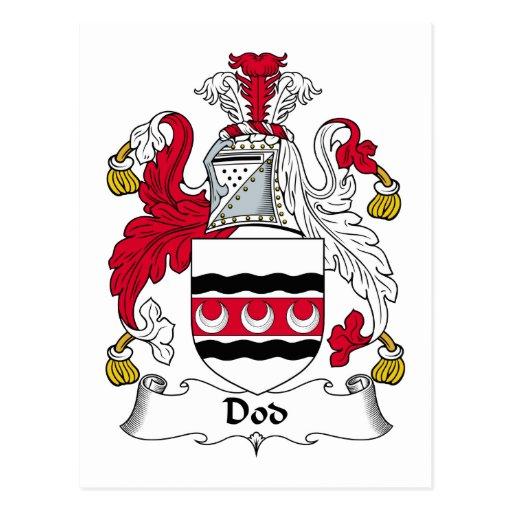 Escudo de la familia del Dod Postales