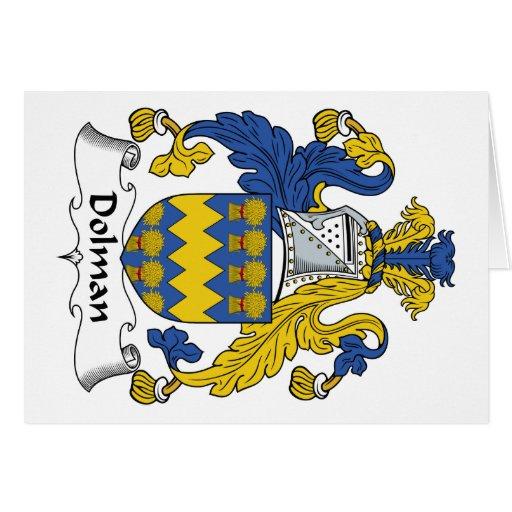 Escudo de la familia del dolmán felicitaciones