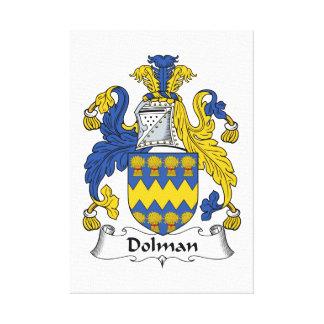 Escudo de la familia del dolmán lona envuelta para galerías
