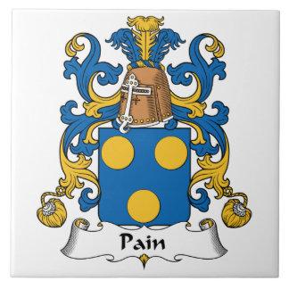 Escudo de la familia del dolor azulejo cuadrado grande