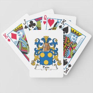 Escudo de la familia del dolor baraja de cartas