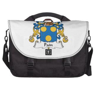 Escudo de la familia del dolor bolsas para portatil