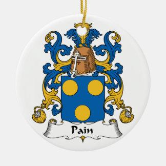 Escudo de la familia del dolor adorno redondo de cerámica