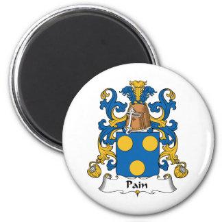 Escudo de la familia del dolor imán redondo 5 cm