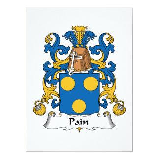 """Escudo de la familia del dolor invitación 6.5"""" x 8.75"""""""