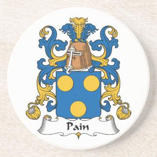 Escudo de la familia del dolor posavasos cerveza