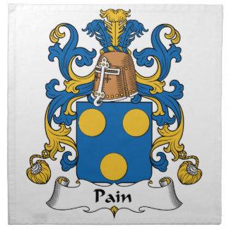 Escudo de la familia del dolor servilleta de papel