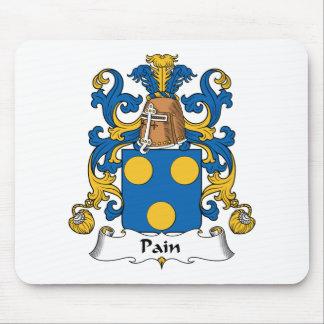 Escudo de la familia del dolor alfombrilla de ratones