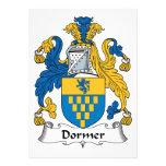 Escudo de la familia del Dormer Invitacion Personalizada