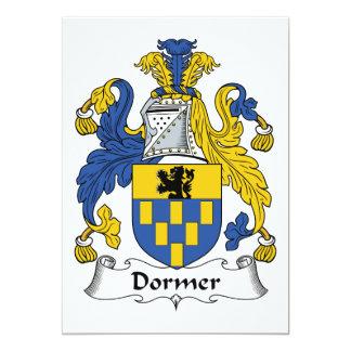 """Escudo de la familia del Dormer Invitación 5"""" X 7"""""""