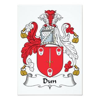 """Escudo de la familia del Dun Invitación 5"""" X 7"""""""