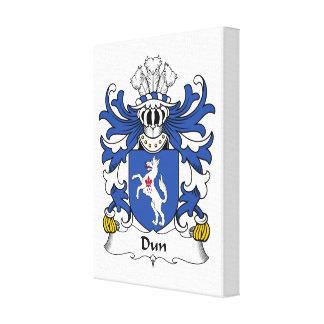 Escudo de la familia del Dun Impresiones En Lona