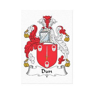 Escudo de la familia del Dun Impresión En Lona