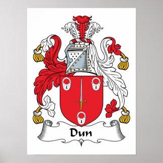 Escudo de la familia del Dun Posters