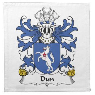 Escudo de la familia del Dun Servilleta Imprimida