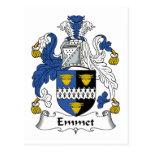 Escudo de la familia del Emmet Postales