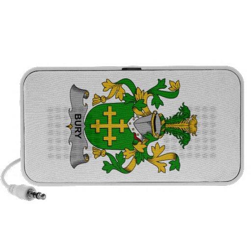 Escudo de la familia del entierro iPod altavoz
