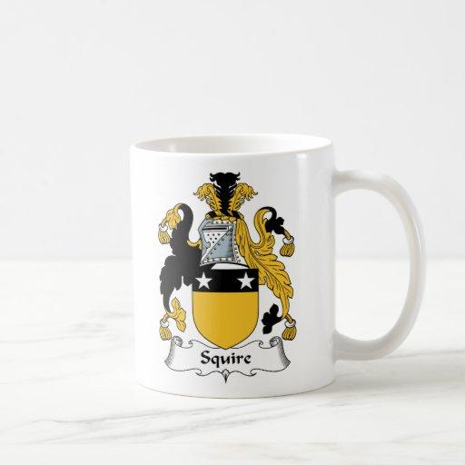 Escudo de la familia del escudero taza de café