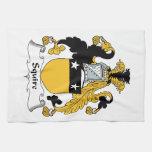 Escudo de la familia del escudero toallas de mano