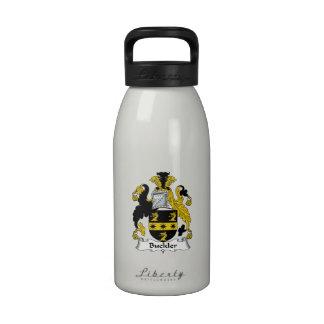 Escudo de la familia del escudo botella de agua reutilizable