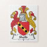 Escudo de la familia del escudo puzzle