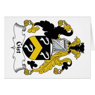 Escudo de la familia del esencial tarjeta de felicitación