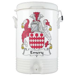 Escudo de la familia del esmeril refrigerador de bebida igloo