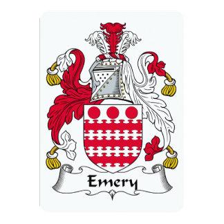 Escudo de la familia del esmeril invitacion personalizada