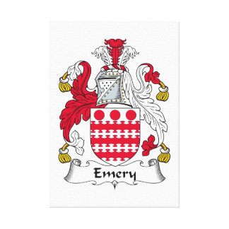 Escudo de la familia del esmeril lona envuelta para galerías