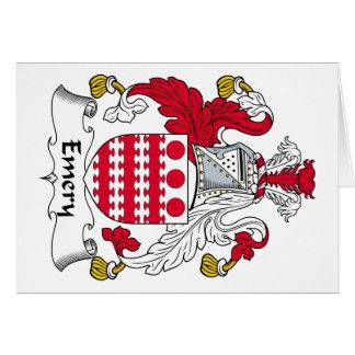 Escudo de la familia del esmeril tarjeta de felicitación