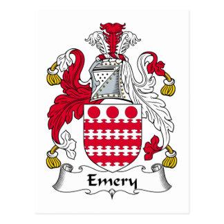 Escudo de la familia del esmeril tarjeta postal