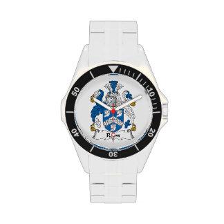 Escudo de la familia del espolón reloj de mano
