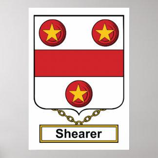 Escudo de la familia del esquilador póster