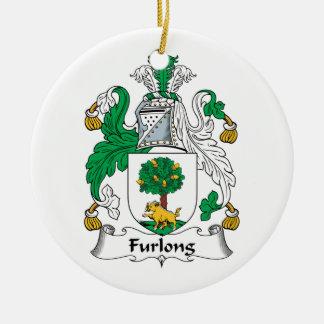 Escudo de la familia del estadio ornaments para arbol de navidad